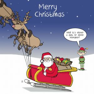 CANX37 – Merry Christmas Card Fat Santa